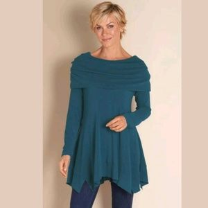 Soft Surroundings Bcall Tunic Long Asymmetric Top